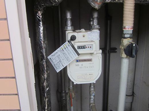 都市ガスのガスメーター